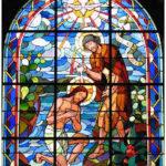 Vitrail baptème Jean